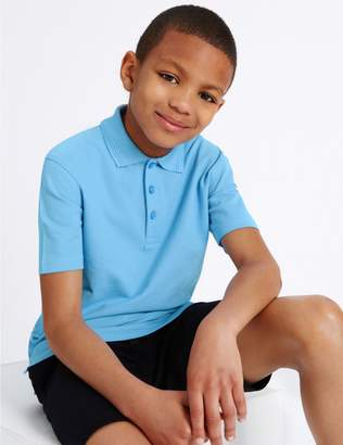 Marks and Spencer 2 Pack Boys' Stain Resist Polo Shirts