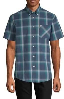 Ben Sherman Ombre Plaid Short-Sleeve Shirt