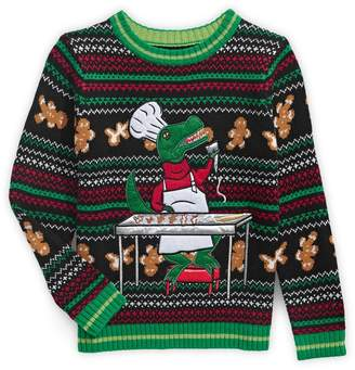 33 Degrees Little Boy's Holiday T-Rex Tree Sweater