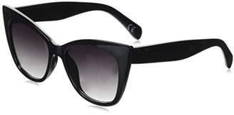 Foster Grant Women's Naomi Blk Cateye Sunglasses