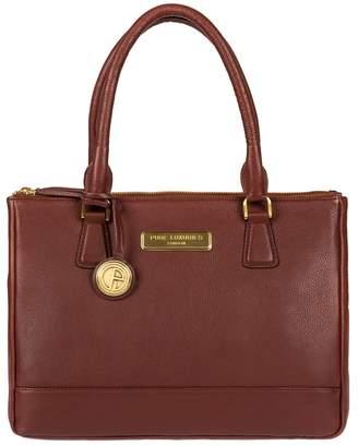 At Debenhams Pure Luxuries London Auburn Brown Jo Soft Leather Handbag Deluxe Collection