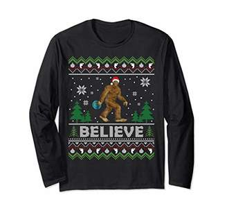 Ugly Disc Golf Christmas Sweater Big Foot Playing Frolf