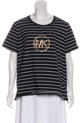 MICHAEL Michael Kors Embellished Striped T-Shirt