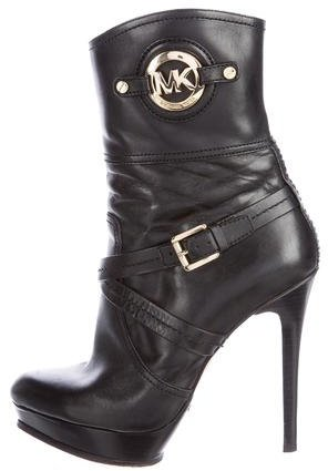 Michael Kors Leather Platform Boots