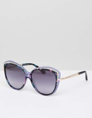 Christian Lacroix Christian La Croix Cat Eye Sunglasses In Blue