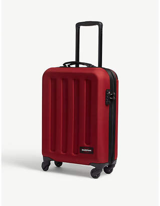 Eastpak Red Stripe Tranzshell Small Four Wheel Cabin Suitcase