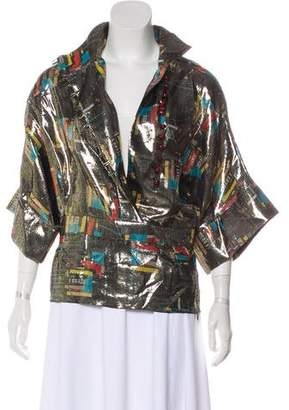 J.W.Anderson Metallic Short Sleeve Top