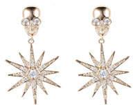 Eye Candy La Stars & Skulls Cubic Zirconia Drop Earrings