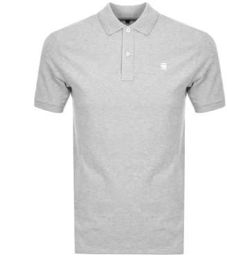 G Star Raw Dunda Polo T Shirt Grey