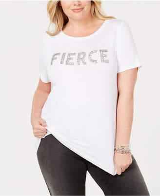 INC International Concepts I.n.c. Plus Size Embellished T-Shirt
