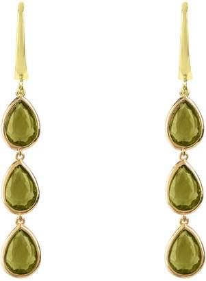 Latelita London - Sorrento Triple Drop Earring Gold Peridot