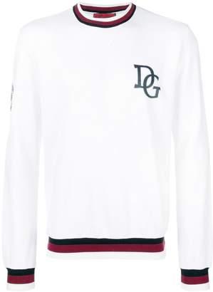 Dolce & Gabbana logo stripe sweatshirt