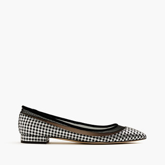 Mesh flats in metallic houndstooth $158 thestylecure.com
