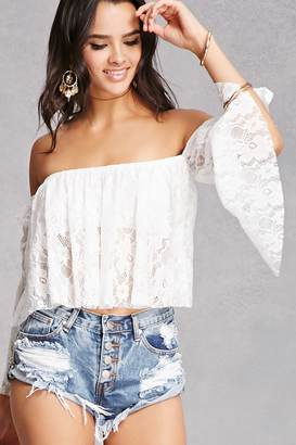 FOREVER 21+ Off-the-Shoulder Lace Top $35 thestylecure.com