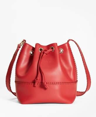 Brooks Brothers Leather Daria Bucket Bag