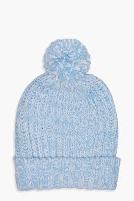 boohoo Hollie Chenille Bobble Hat
