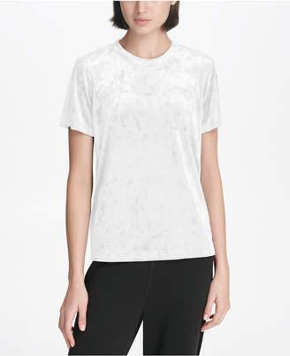 DKNY Sport Crushed Velvet Logo T-Shirt