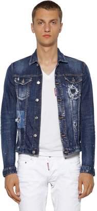 DSQUARED2 Distressed Cotton Denim Jacket