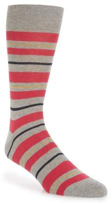 Lorenzo Uomo Uneven Stripe Socks