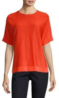 Eileen Fisher Silk Elbow Sleeve Sweater