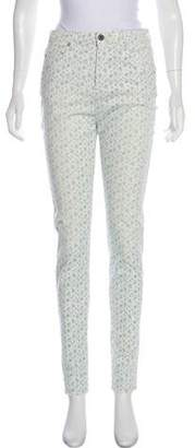 Band Of Outsiders High-Rise Floral Jeans