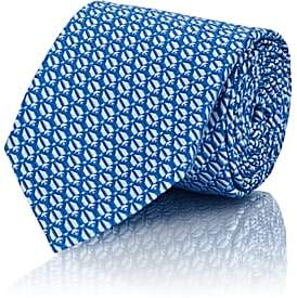 Penrose London PENROSE LONDON MEN'S SILK JACQUARD NECKTIE-BLUE