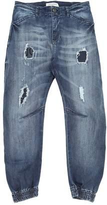 John Galliano Destroyed Stretch Denim Jeans