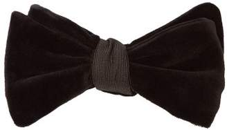 Neil Barrett Mayfair Velvet Bow Tie - Mens - Black