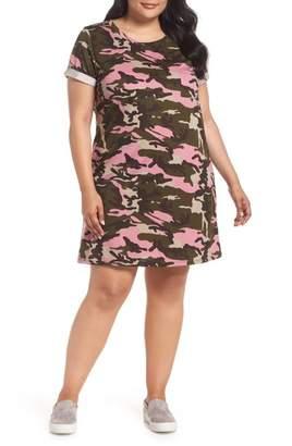 Caslon Camo T-Shirt Dress (Plus Size)