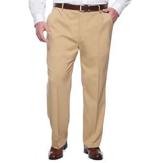 Van Heusen Men's Traveler Stretch Flat-Front Straight-Leg Dress Pants-Big and Tall