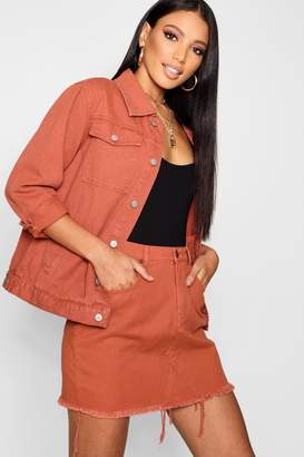 boohoo Brick Denim Jacket