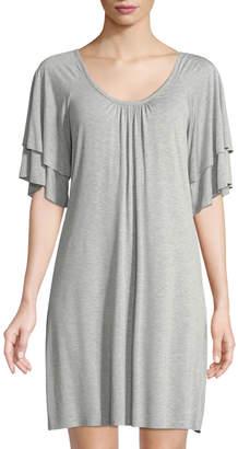 Three Dots Short-Sleeve Classic Swing Dress