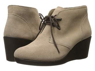 Crocs Leigh Suede Wedge Shootie Women's Boots