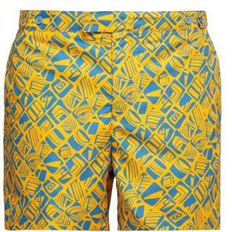 Frescobol Carioca - Printed Swim Shorts - Mens - Orange