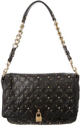 Marc Jacobs Marc Jacobs Quilted Leather Studded Shoulder Bag