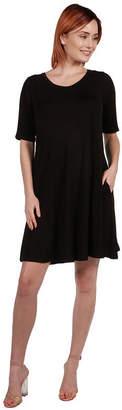 24/7 Comfort Apparel Ashton Shift Style Mini Dress- Plus