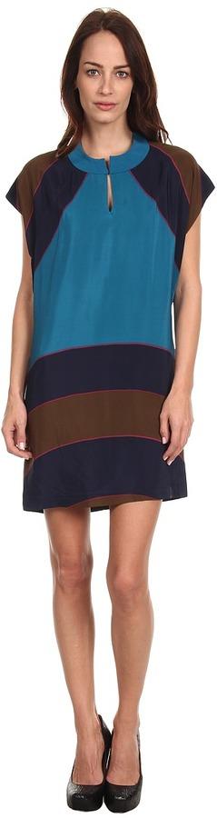 See by Chloe S/S Print Shift Dress (Blue) - Apparel