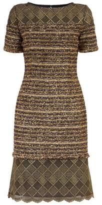 St. John Gold Knit Dress