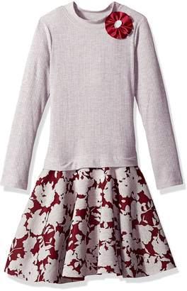 Bonnie Jean Big Girls' Long Sleeve Sweater to Skirt Dress