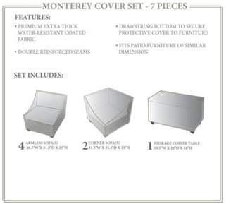 Rochford Sol 72 Outdoor 7 Piece Patio Furniture Cover Set Sol 72 Outdoor