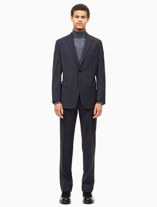 Calvin Klein big + tall solid dark grey suit