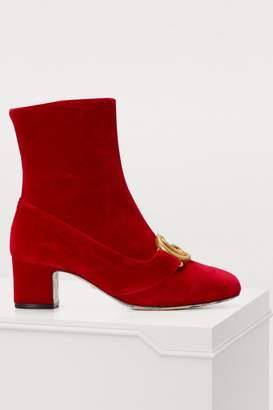 Gucci Victoire velvet ankle boots