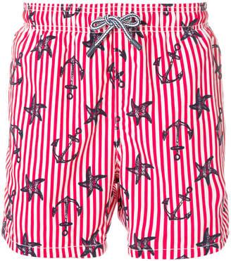 MC2 Saint Barth anchor print swim shorts