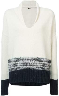 ADAM by Adam Lippes Contrast Long-Sleeve Sweater