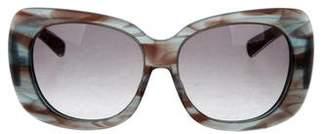 Oscar de la Renta Oversize Marbled Sunglasses