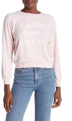Wildfox Couture My Cat Junior Sweatshirt