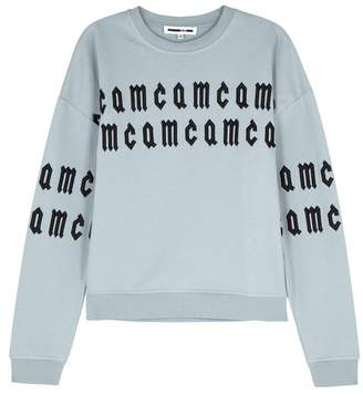 McQ Pale Blue Embroidered Cotton Sweatshirt
