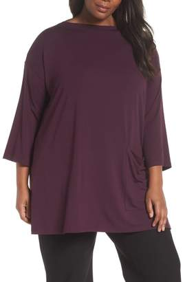 Eileen Fisher One-Pocket Jersey Tunic