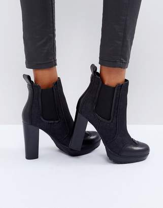 G Star G-Star Denim Mix Heeled Chelsea Boot