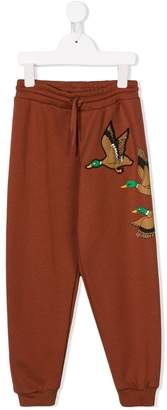 Mini Rodini wild duck-print track pants